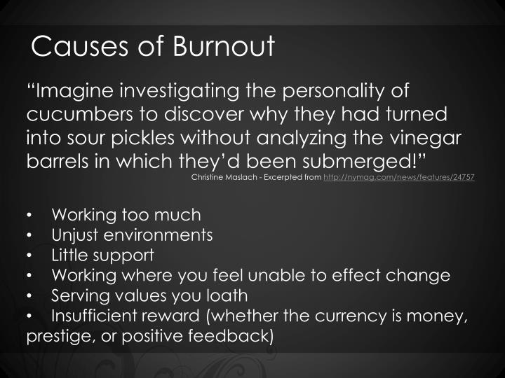 Causes of Burnout