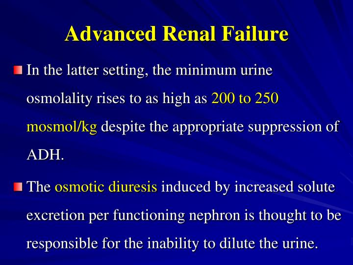Advanced Renal Failure
