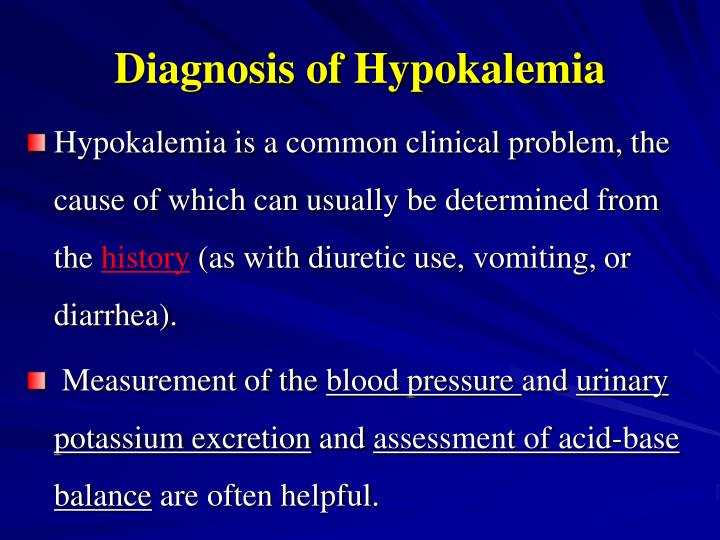 Diagnosis of Hypokalemia