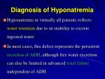 diagnosis of hyponatremia