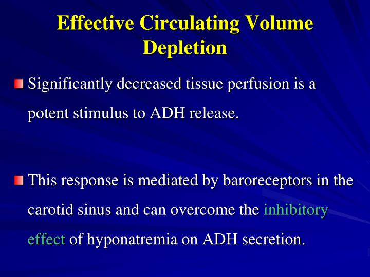 Effective Circulating Volume Depletion