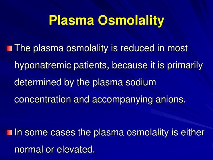 Plasma Osmolality