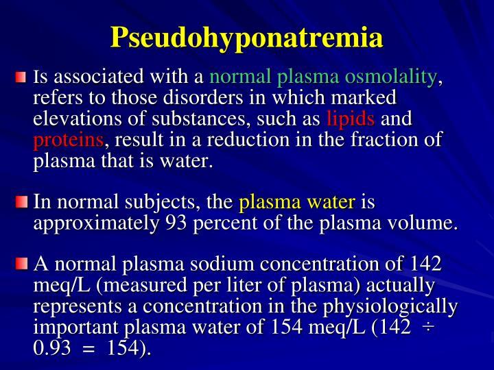Pseudohyponatremia