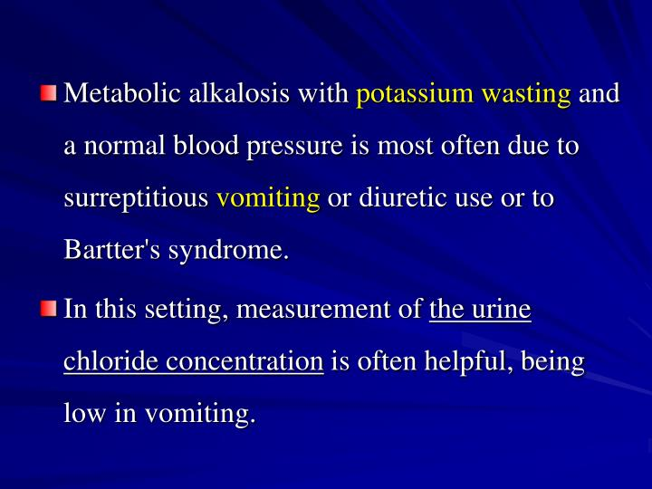 Metabolic alkalosis with