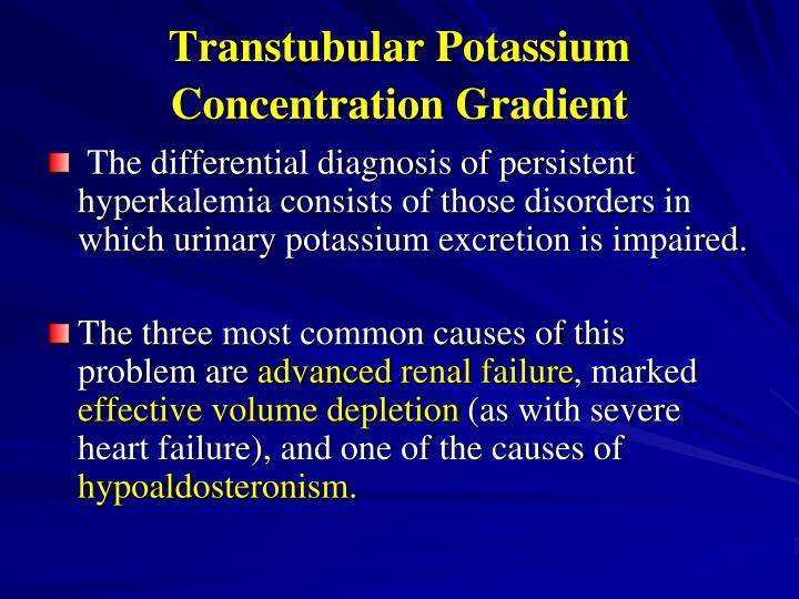 Transtubular Potassium Concentration Gradient