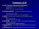 treatment of di