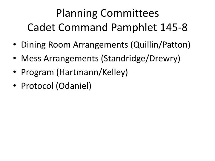 Planning Committees