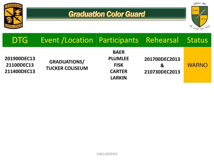 Graduation Color Guard