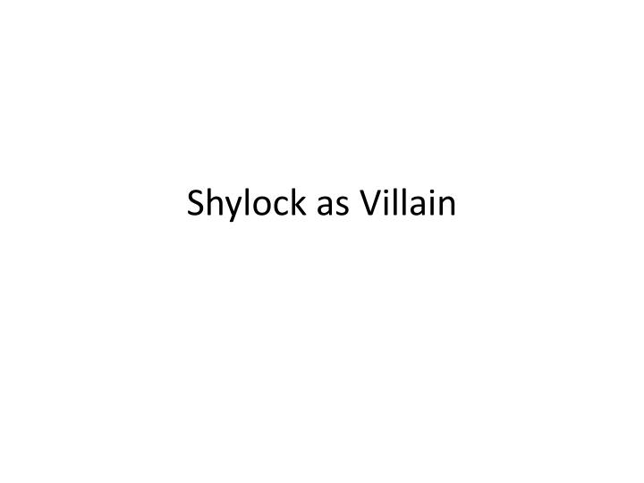 the tragedy of shylock essay