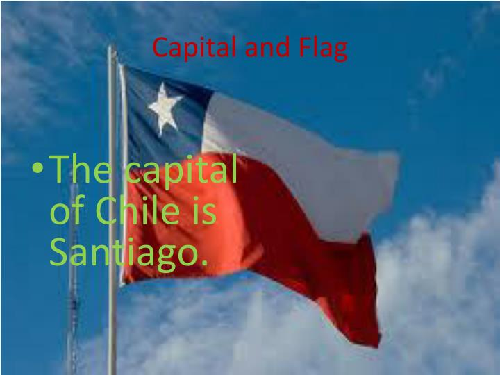 Capital and flag