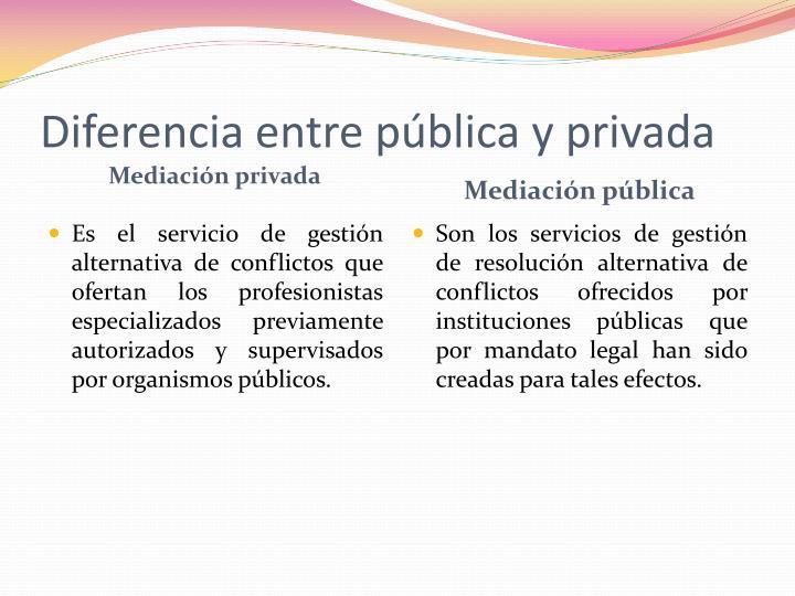 Mediación pública