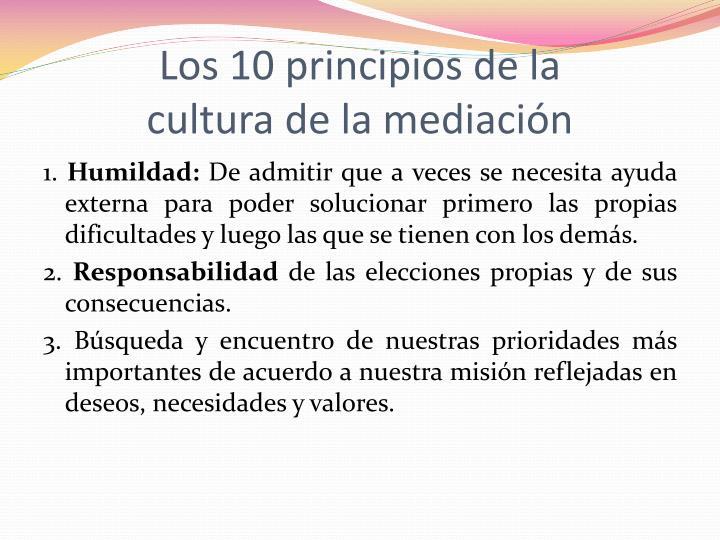 Los 10 principios de la