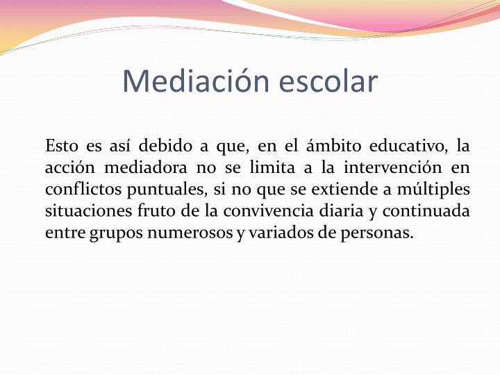 Mediación escolar