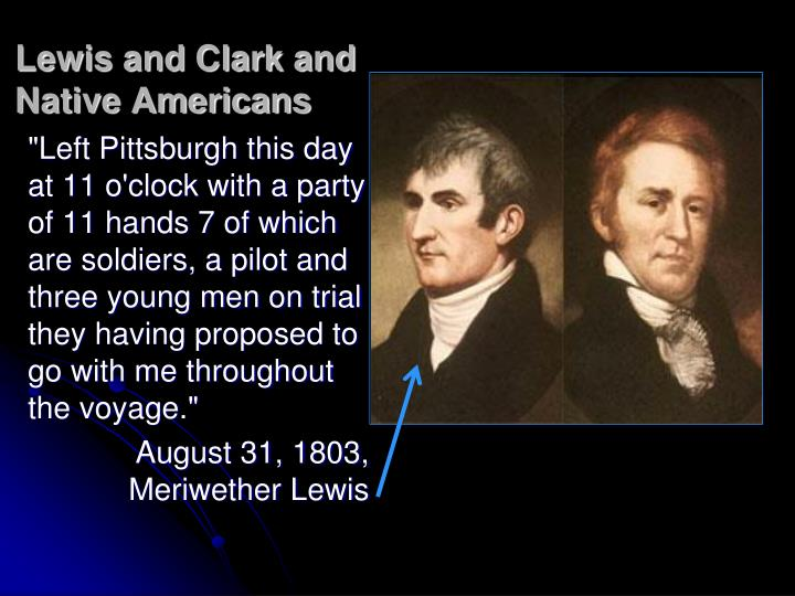 Lewis and clark and native americans