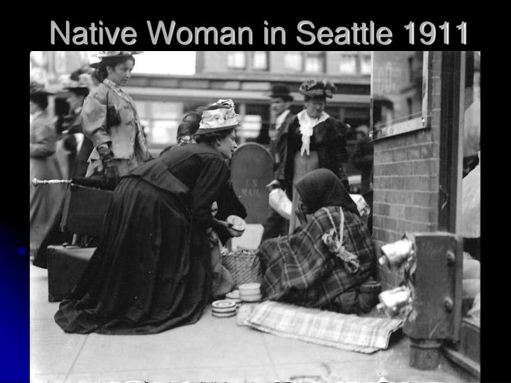 Native Woman in Seattle 1911