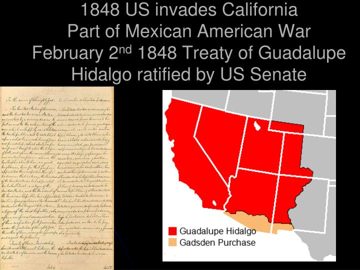 1848 US invades California