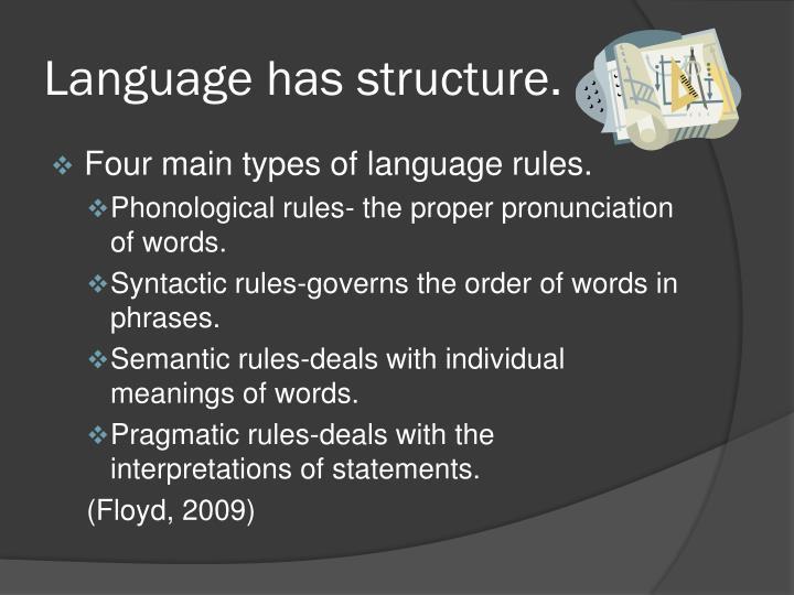 Language has
