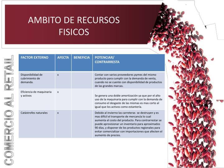 AMBITO DE RECURSOS FISICOS