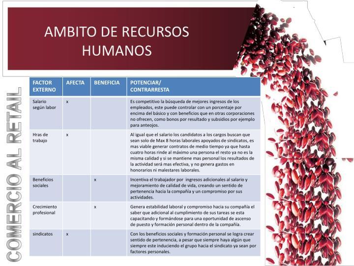 AMBITO DE RECURSOS HUMANOS