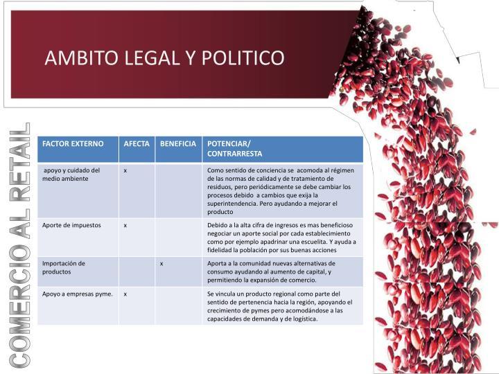 AMBITO LEGAL Y POLITICO