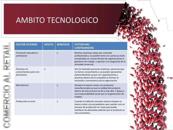 AMBITO TECNOLOGICO