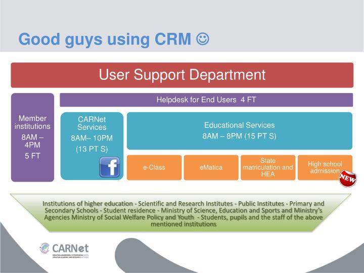 Good guys using CRM