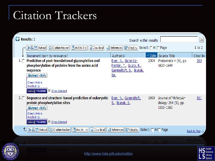Citation Trackers