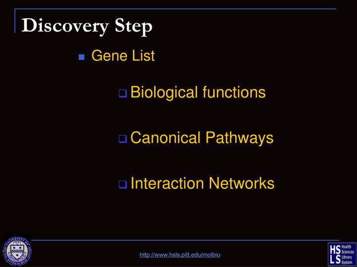 Discovery Step