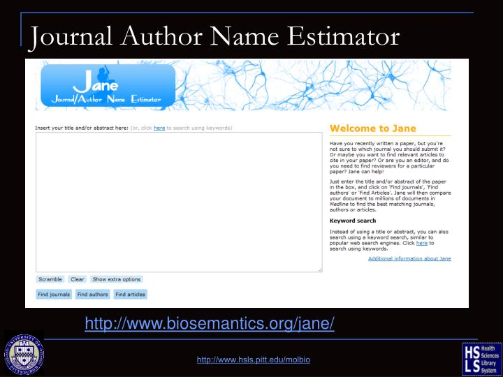 Journal Author Name Estimator