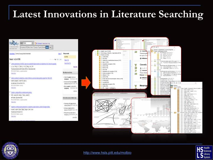 Latest Innovations in Literature Searching