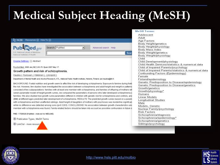 Medical Subject Heading (