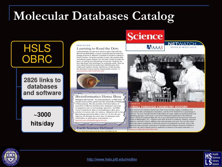 Molecular Databases Catalog