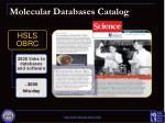 molecular databases catalog