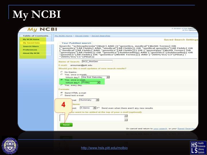 My NCBI