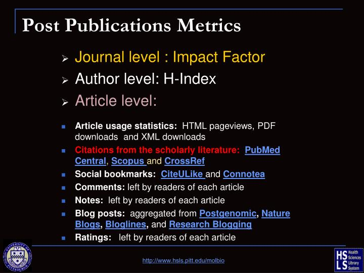 Post Publications Metrics