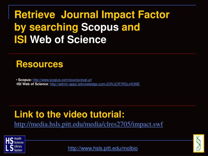 Retrieve  Journal Impact Factor