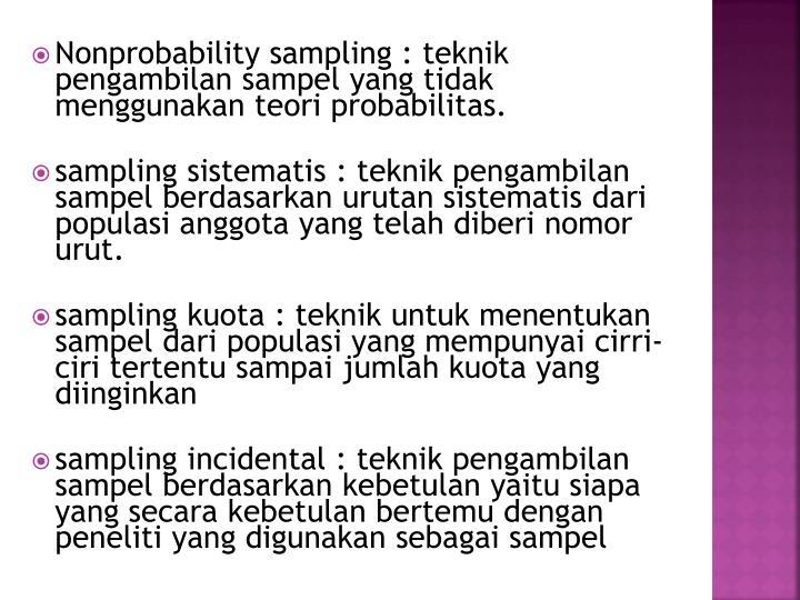 Nonprobability