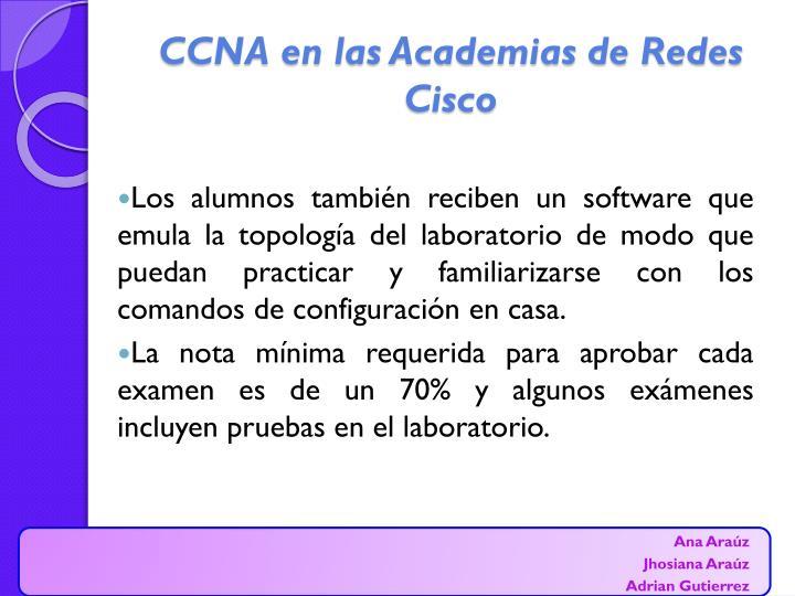 CCNA en las Academias de Redes Cisco