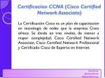 certificacion ccna cisco certified network associate