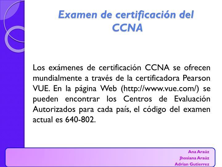 Examen de certificación