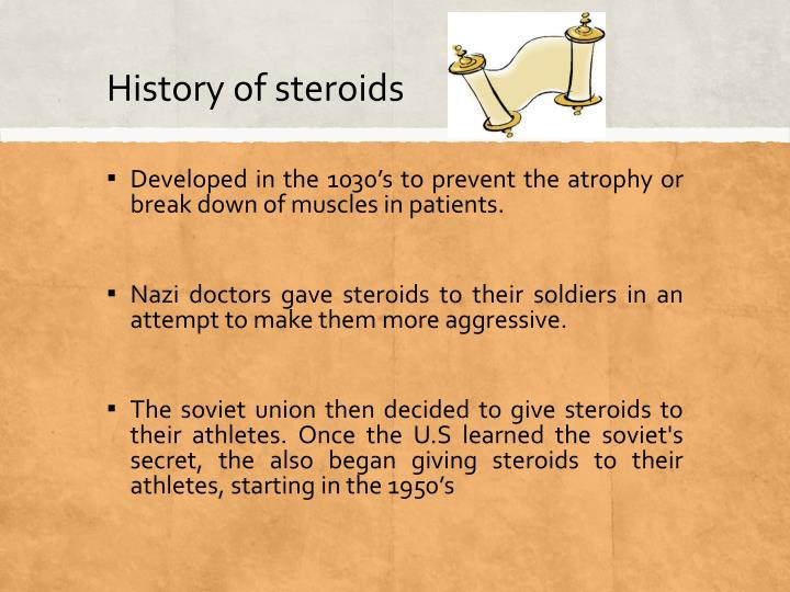 the history of developing steroids Like alcohol or street drugs, the common signs of addiction may develop with the use of steroids these include drug cravings, requiring more drug to get the same effect, and withdrawal symptoms should the drug be stopped the following is a statement from the national institute of drug abuse concerning.