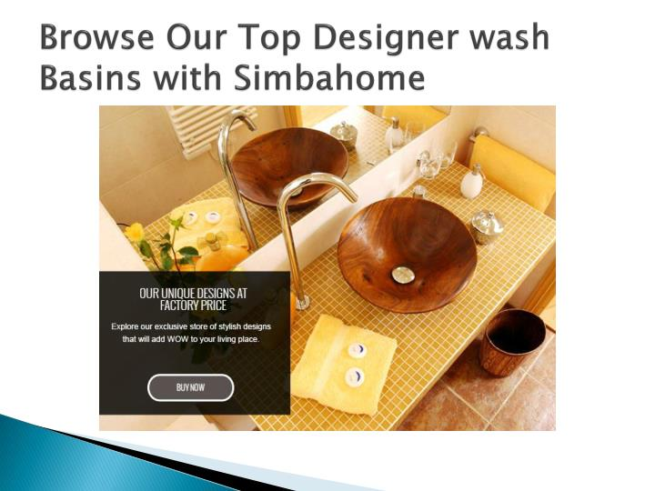 Browse our top designer wash basins with simbahome