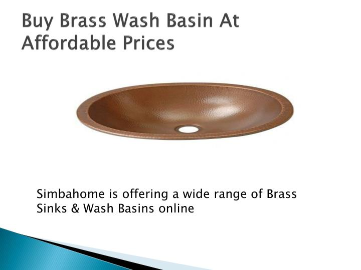 Buy Brass Wash Basin At Affordable Prices