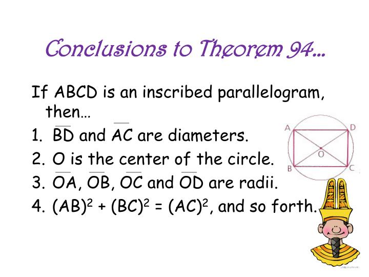 Conclusions to Theorem 94…