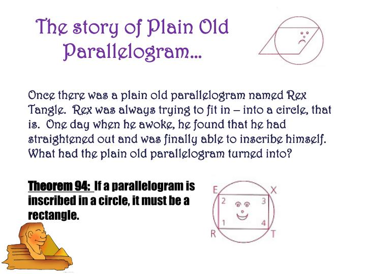 The story of Plain Old Parallelogram…