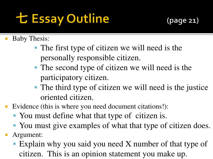 essay for responsibility of a good citizen