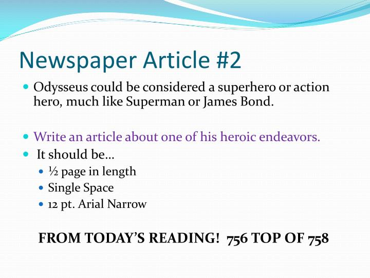 Newspaper Article #2