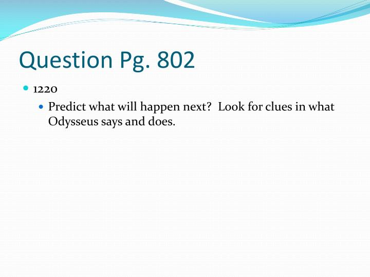 Question Pg. 802
