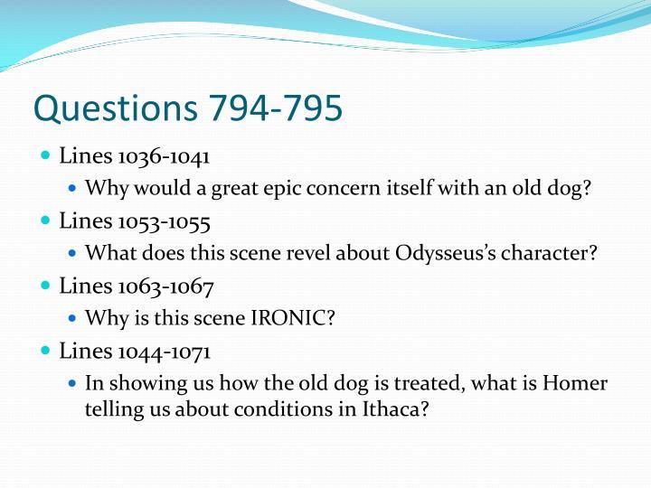 Questions 794-795