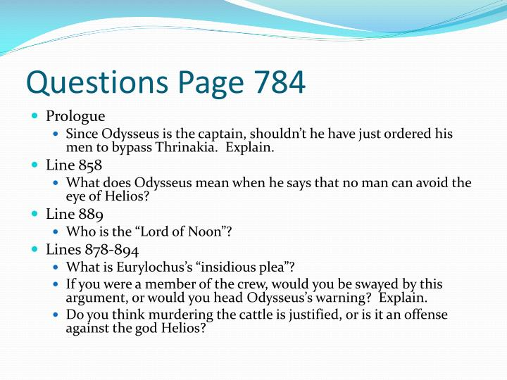 Questions Page 784